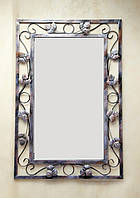 Зеркало настенное кованое Листики ЗН10