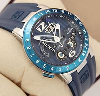 Часы наручные мужские  ulysse nardin el toro silver/blue 1023-0063 aaa copy sk (реплика)