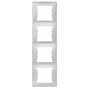 Рамка  4-постовая вертикальная алюминий Sedna Schneider Electric