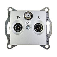 Розетка TV/R/SAT проходная (4дб) алюминий Sedna Schneider Electric