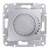 Диммер  поворотно-нажимной 1000W алюминий Sedna Schneider Electric