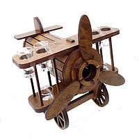 Мини-бар деревянный с рюмками Самолет, фото 1