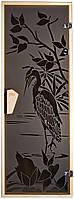 """Стеклянная дверь для сауны Tesli """"Цапля"""" 67,8x188"""