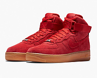 Женские кроссовки Nike Air Force 1 high suede (red) - 34W