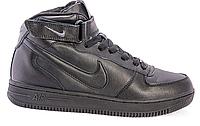 Женские кроссовки Nike Air Force 1 high (black) - 23W (мех)