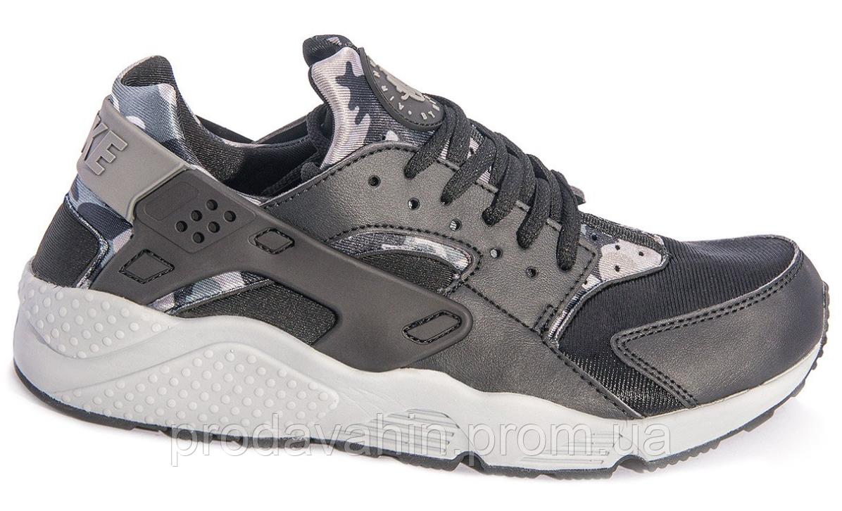 7285f5f5 Женские кроссовки Nike Air Huarache (black/grey/white) - 01w , цена 1 540  грн., купить в Киеве — Prom.ua (ID#442460465)