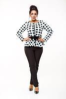 Стильные женские классические брюки со змейкой сзади