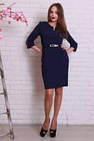 Короткое платье с поясом