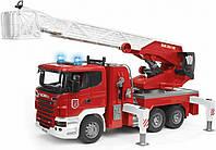 Большая пожарная машина с лестницей Bruder Scania R-series М1:16 (03590)
