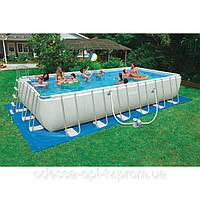 Intex  28362 Каркасный прямоугольный бассейн Ultra Frame Rectangular Pools (732 см х 366 см х 132 см)
