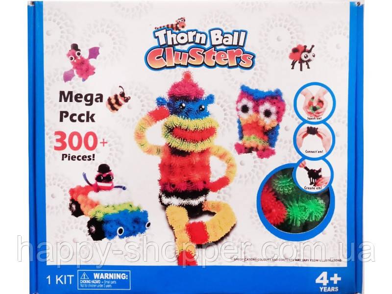 """Мягкий конструктор липучка 300 """"Вязкий пушистый шарик"""", шарики липучки, интерактивная игрушка, развивающий"""