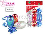 Набор для декорирования подарков: 6 бантов, 3 ленты