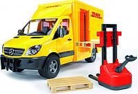 Машина Курьерская доставка грузов с погрузчиком Bruder МВ Sprinter М1:16 (02534)