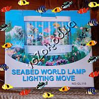 Светильник ночник Аквариум Seabed World Lamp Lighting Move GL118 прямоугольный, фото 1