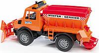 Снегоуборочная машина Bruder MB Unimog 1:16 Оранжевый (02572), фото 1
