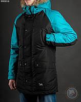 Зимняя куртка (парка) Staff - Cold black and mint Art. NK0012 (черный \ ментол)