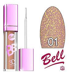 Bell - Блеск для губ BB 3D LipGloss Тон №01 light caramel мерцающий