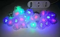 Гирлянда светодиодная снежинки (LED) 30 л