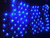 Гирлянда светодиодная сетка синяя 120 л, 2x1.6 м (LED)