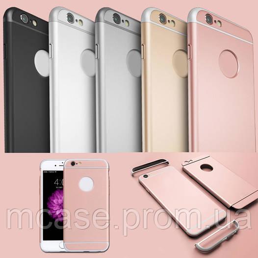 Пластиковый Чехол для iPhone 6 и iPhone 6S Матовый Однотонный Рамка Металик