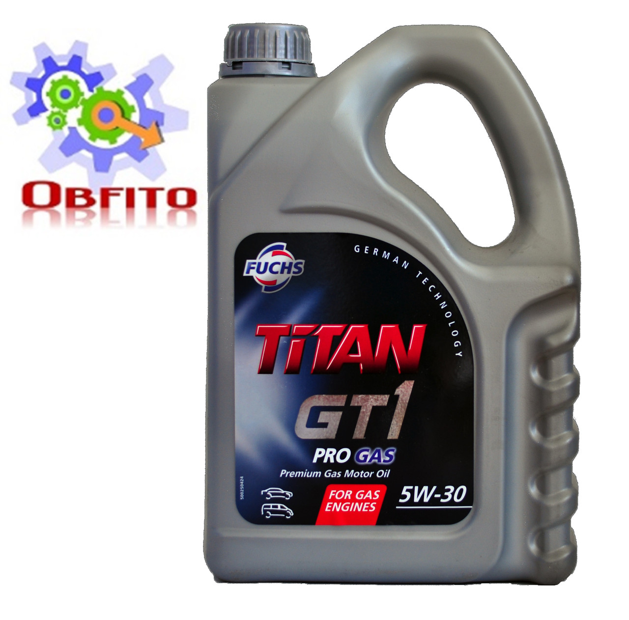 """Масло моторное синтетическое """"TITAN GT 1 PRO GAS 5W-30"""", 4л"""
