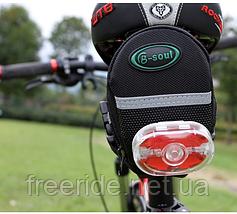 Велосумка подседельная (B-SOUL) бардачок под седло, фото 3