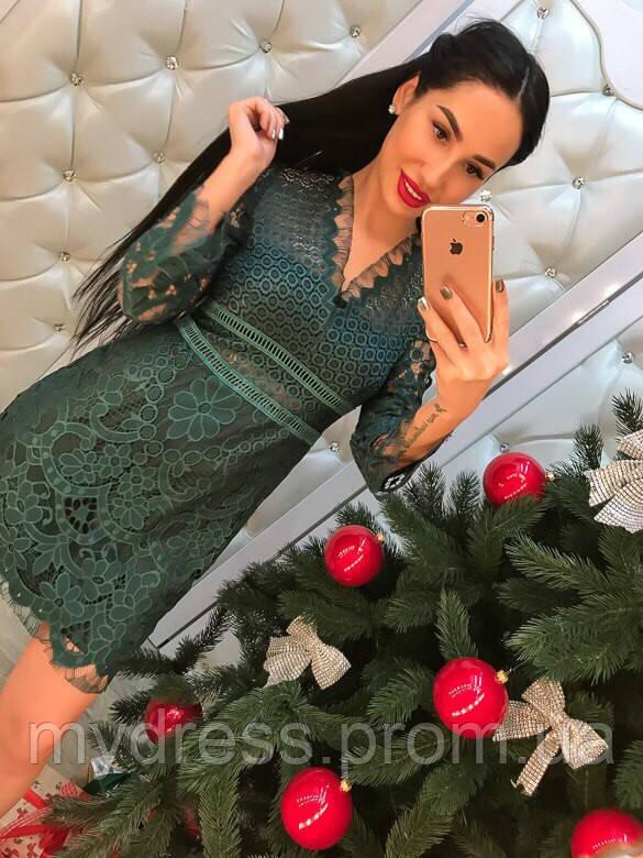 Гипюровое платье Lace 6603