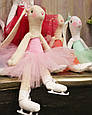 Зайцы-фигуристы, куклы-тильды 3-х размеров 45см, 80 см, 120см., фото 4