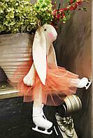Зайцы-фигуристы, куклы-тильды 3-х размеров 45см, 80 см, 120см.