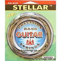 Струны Solid PCN46102 Stellar Flat Wound Nickel Extra Light 46-102