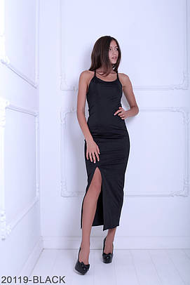 Витончене чорне вечірнє плаття-максі Bless