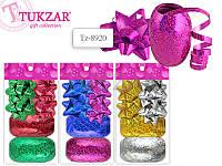 Набор для декорирования подарков: 4 банта, 2 ленты