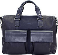 Кожаная мужская сумка Mk25 синяя