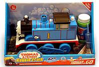 Паровозик на бат. Thomas Bubble Train мыльные пузыри