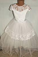 Бальное платье на девочку белое.