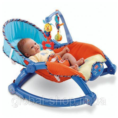 Детский шезлонг-качалка,кресло качалка JOY TOY 7179