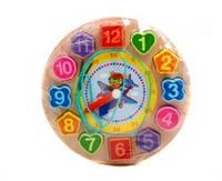 """Деревянная игра """"Часы"""" 0363 (80) 4 вида микс, в коробке - 691466000363"""