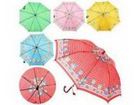 Зонтик детский MK 0355 (60шт) длина47,5см,трость59см,диам.76,5см,спица44см,ткань,рисун,5видов