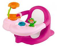 Стульчик розовый для купания Smoby Cotoons Жабка с игрушками 110605