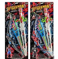 Набор Спайдермена 506 D, лук, стрелы с присосками, колчан, меч, фигурка героя, свет, звук, 2 вида, в планшетке