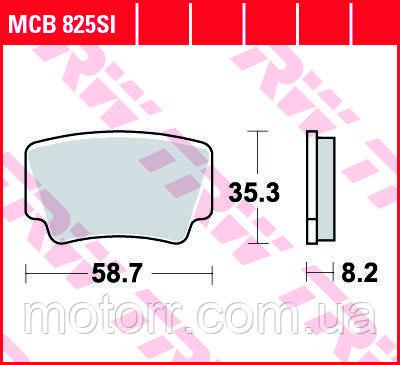 Тормозные колодки TRW / LUCAS MCB825SI