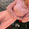 Платье жаккард с гипюром 1681, фото 2