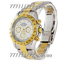 Часы мужские наручные Rolex Daytona AA+ Mechanic Silver-Gold-White