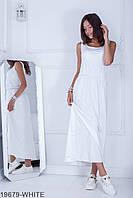 Довге жіноче біле плаття Aleksia (XS-XXL)