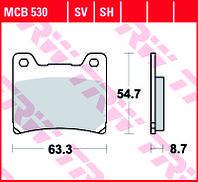 Тормозные колодки TRW / LUCAS MCB530SH