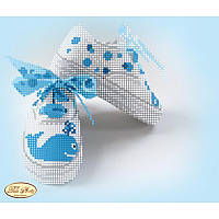 """Схема для вышивания бисером Tela Artis Детская метрика """"Маленький моряк"""" ТМ-051"""