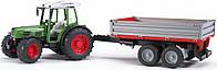 Трактор Bruder Fendt 209 S с прицепом М1:16 (02104), фото 1