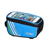 Сумка для телефона на велосипед B-SOUL синяя, фото 1