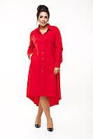 Cтильное платье-рубашка батальных размеров