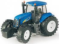 Игровой Трактор Bruder New Holland T8040 М1:16 Синий (03020)